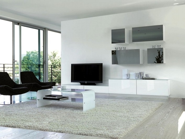 Equipped wall furniture - TV holder equipped wall furniture