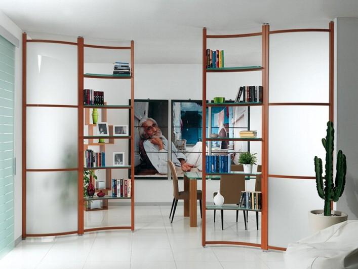 Interpareti pareti divisorie divisori attrezzati for Mobili divisori design