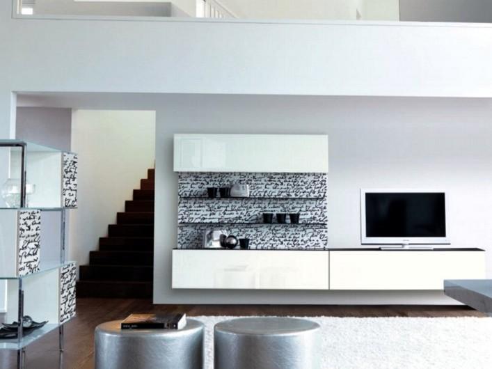 Pareti attrezzate pareti attrezzate porta tv e a libreria for Pareti attrezzate per soggiorno